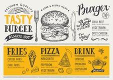 Επιλογές τροφίμων εστιατορίων, σχέδιο προτύπων Στοκ εικόνες με δικαίωμα ελεύθερης χρήσης