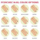 Επιλογές χρώματος καρφιών Pedicure Στοκ Εικόνα