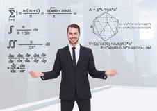Επιλογή ατόμων ή εξισώσεις απόφασης math με τα ανοικτά χέρια παλαμών Στοκ Φωτογραφία