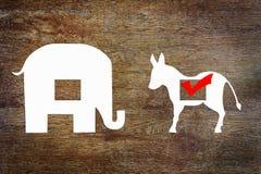 Επιλογή για τους δημοκράτες στις εκλογές στοκ φωτογραφία με δικαίωμα ελεύθερης χρήσης