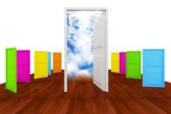 Επιλογή με την πολυ πόρτα colot Στοκ Εικόνα