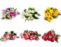 Επιλογή της ανθοδέσμης του λουλουδιού Στοκ Εικόνες