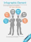 Επιλογή τρία πορτοκάλι 11 επιχειρησιακών ατόμων infographich Στοκ εικόνα με δικαίωμα ελεύθερης χρήσης