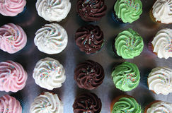 Επιλογή των ανάμεικτων cupcakes Στοκ εικόνα με δικαίωμα ελεύθερης χρήσης