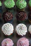Επιλογή των ανάμεικτων cupcakes Στοκ Εικόνες