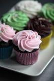 Επιλογή των ανάμεικτων cupcakes Στοκ φωτογραφία με δικαίωμα ελεύθερης χρήσης