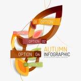 Επιλογή φθινοπώρου infographic, ελάχιστο σχέδιο εμβλημάτων ελεύθερη απεικόνιση δικαιώματος
