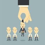 Επιλογή χεριών επιχειρηματιών διανυσματική απεικόνιση