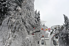 Επιδράσεις της ισχυρής χιονόπτωσης στοκ φωτογραφία με δικαίωμα ελεύθερης χρήσης