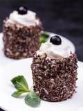 Επιδόρπιο γιαουρτιού με τη σοκολάτα Στοκ εικόνα με δικαίωμα ελεύθερης χρήσης
