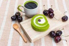 Επιδόρπιο και καφές Στοκ Εικόνες