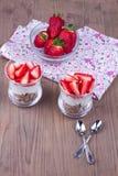 Επιδόρπιο με τη φράουλα Στοκ Εικόνες