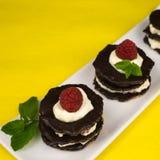 Επιδόρπιο σοκολάτας με την κτυπημένη κρέμα Στοκ εικόνες με δικαίωμα ελεύθερης χρήσης