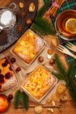 Επιδόρπιο ψησίματος διακοπών Χριστουγέννων Στοκ Φωτογραφίες