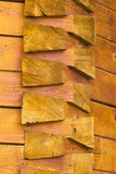 Εποικοδομητικές λεπτομέρειες μιας ξύλινης εκκλησίας από τη Ρουμανία στοκ εικόνες με δικαίωμα ελεύθερης χρήσης