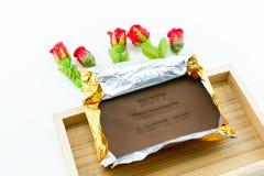 Επονομαζόμενος σοκολάτα ευτυχής βαλεντίνος ι αγάπη εσείς Στοκ φωτογραφία με δικαίωμα ελεύθερης χρήσης
