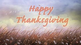 Εποχές που γυρίζουν την ευτυχή ημέρα των ευχαριστιών ελεύθερη απεικόνιση δικαιώματος