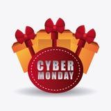 Εποχή αγορών Δευτέρας Cyber απεικόνιση αποθεμάτων