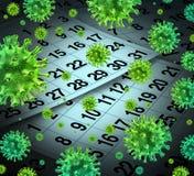 Εποχή γρίπης διανυσματική απεικόνιση