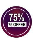 Εποχή 75% εικονίδιο Ιστού κουμπιών προσφοράς ελεύθερη απεικόνιση δικαιώματος