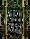 Εποχή του Art Deco Jazz ύφους Gatsby απεικόνιση αποθεμάτων
