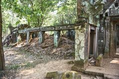 Εποχή Angkor ναών σκασιμάτων Kra Prasat Στοκ Εικόνα