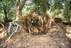 Εποχή Angkor ναών σκασιμάτων Kra Prasat Στοκ Φωτογραφίες