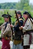 1700 εποχή Trappers με τα όπλα Στοκ Εικόνα