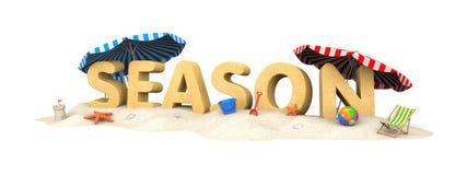 ΕΠΟΧΗ - λέξη της άμμου διανυσματική απεικόνιση