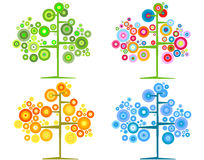 εποχιακά δέντρα ελεύθερη απεικόνιση δικαιώματος