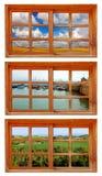 εποχιακά Windows Στοκ εικόνα με δικαίωμα ελεύθερης χρήσης