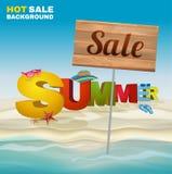 Εποχιακή αφίσα θερινής πώλησης Στοκ Εικόνα