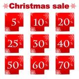 Εποχιακή πώληση Χριστουγέννων Στοκ φωτογραφίες με δικαίωμα ελεύθερης χρήσης