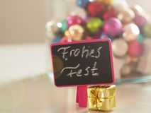 εποχιακός παραδοσιακός διακοσμήσεων διακοπών διακοσμήσεων έννοιας Χριστουγέννων ζωηρόχρωμος Στοκ Εικόνα