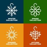Εποχιακό λογότυπο συλλογής Στοκ Εικόνα