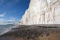Επτά απότομοι βράχοι αδελφών στην παραλία Birling Gap Στοκ φωτογραφία με δικαίωμα ελεύθερης χρήσης