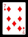 Επτά από τα διαμάντια που παίζουν την κάρτα, Στοκ φωτογραφία με δικαίωμα ελεύθερης χρήσης