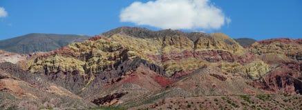 Επτά βουνά χρώματος στην Αργεντινή Στοκ εικόνα με δικαίωμα ελεύθερης χρήσης