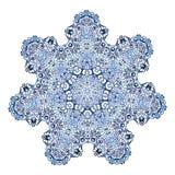 Επτά-δειγμένο snowflake σχέδιο Διανυσματική απεικόνιση