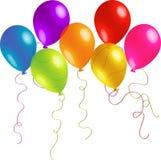 Επτά μπαλόνια διασκέδασης Στοκ εικόνα με δικαίωμα ελεύθερης χρήσης