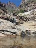 Επτά πτώσεις, Santa Catalina Mountains, Αριζόνα Στοκ φωτογραφίες με δικαίωμα ελεύθερης χρήσης