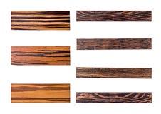 Επτά χρυσές ξύλινες επιτροπές Στοκ Εικόνες
