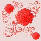 λεπτομερές ανασκόπηση floral διάνυσμα σχεδίων απεικόνιση Στοκ Εικόνες