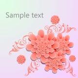 λεπτομερές ανασκόπηση floral διάνυσμα σχεδίων απεικόνιση Στοκ φωτογραφίες με δικαίωμα ελεύθερης χρήσης