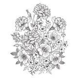 λεπτομερές ανασκόπηση floral διάνυσμα σχεδίων Σύνορα ανθοδεσμών λουλουδιών Floral εκλεκτής ποιότητας κάλυψη ελεύθερη απεικόνιση δικαιώματος