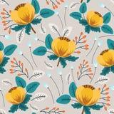 λεπτομερές ανασκόπηση floral διάνυσμα σχεδίων απεικόνιση αποθεμάτων