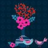 λεπτομερές ανασκόπηση floral διάνυσμα σχεδίων διανυσματική απεικόνιση