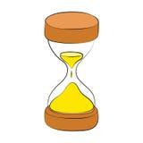 λεπτομερές ιδιαίτερα ρολόι άμμου απεικόνισης κλεψυδρών Στοκ Φωτογραφία