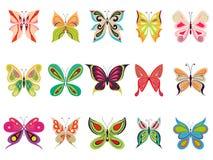 λεπτομερή πεταλούδα στ&omic απεικόνιση αποθεμάτων
