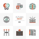 Επόμενα εικονίδια Futuro ανάπτυξης επιχείρησης ελεύθερη απεικόνιση δικαιώματος